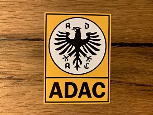 24/7stickers #750 / ADAC Aufkleber 10x7cm Auto Club Automobil Oldtimer Plakette Vintage Tuning Frontscheibe Retro