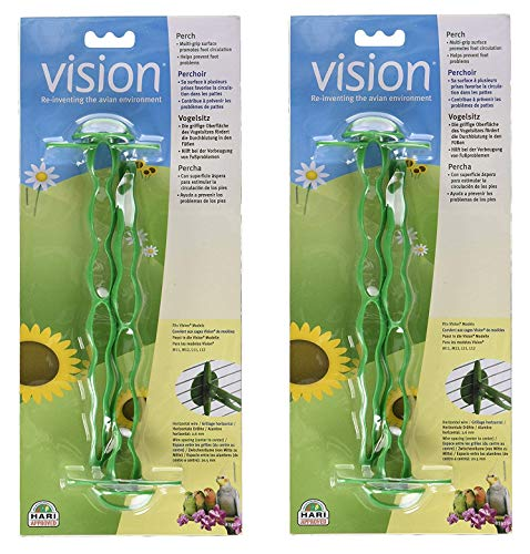 Vision Perchoir pour cage à oiseaux Vert (4 perches)