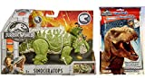 Jurassic World Roarivores Sinoceratops (Pachyrhinosaurus) Action Figure + One Play Pack Grab & Go! Coloring Book. Set of 2 Items.