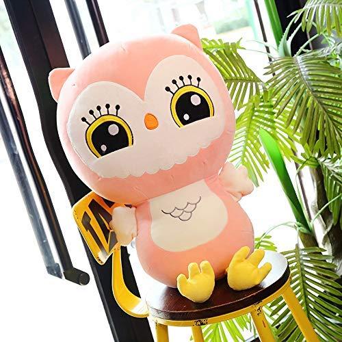 DINEGG Nette Karikatur-Down-Cotton-Eule Plüsch-Spielzeug-Puppe Hochzeit Geschenk Kinder Puppe 60cm grün, Größe: 60 cm, Farbe: grün QQQNE (Color : Pink, Size : 80cm)