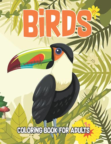 Birds Coloring Book For Adul