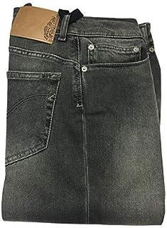 DONDUP Jeans Donna Vita Bassa con Zip Slim Fondo cm 14 MOD P622 DA010DV Lambda Made in Italy