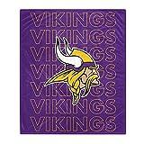 Pegasus Sports NFL Echo Team Wordmark Plush Blanket- Minnesota Vikings
