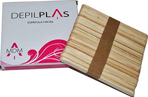 Espátula facial de madera para cera depilatoria, Pack 100 unidades