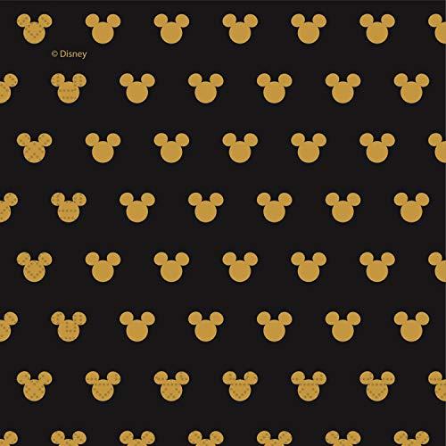 Procos 90702 Mouse Servietten Disney Mickey Pappe, 20 Stück, schwarz, Gold