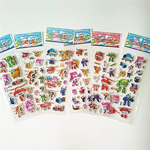 Kangzhiyuan 6 pegatinas de dibujos animados anime ponies princesa juguete niños mi pequeño unicornio para equipaje portátil skate burbuja pegatina (color : ala)