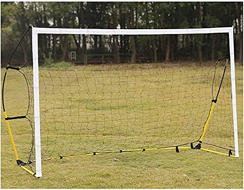 Porta da Calcio per Bambini Porta da calcio per adulti Portatile da esterno Porta da calcio Porta da calcio in acciaio di grandi dimensioni con rete pop-up, facile da installare HSWYJJPFB 0917(Size:2.