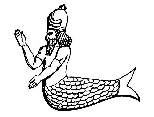 Mythology Oannes (Dagon) Nassyrian-Babylonian God Poster Print by (18 x 24)