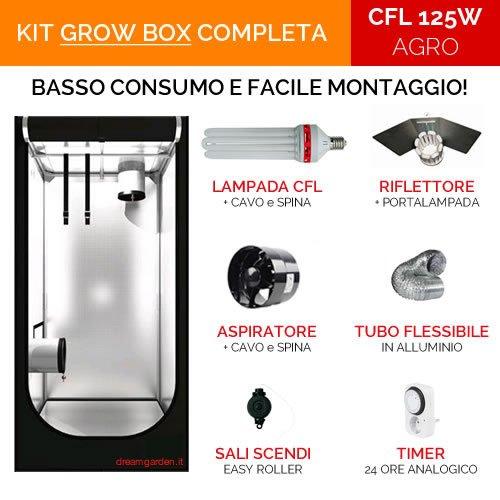 Grow Box DreamGarden.it KIT COMPLETO 60x60x120 - CFL 125W Agr