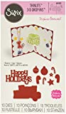 Sizzix 661083 Thinlits Die Set, Happy Holidays 3-D Drop-Ins Sentiment by Stephanie Barnard (10/Pack)