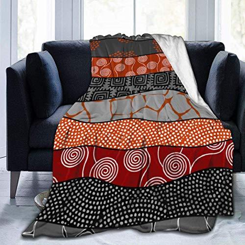 YJWLO Fleece-Überwurf im ethnischen afrikanischen Boho-Stil, für Zuhause, Büro, Reise, Couch, Sofa, warm, gemütlich, 3 Größen, weiß, 60x50 inch