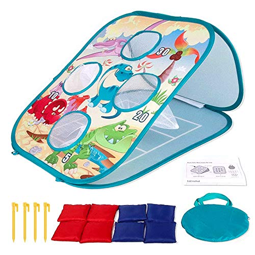 Heflashor 2 in 1 Wurfspiel Spielzeug Set mit 8 Bohnentaschen,Spaß Indoor Outdoor-Spiel Ballspiele Gartenspiele für Kinder und Erwachsene