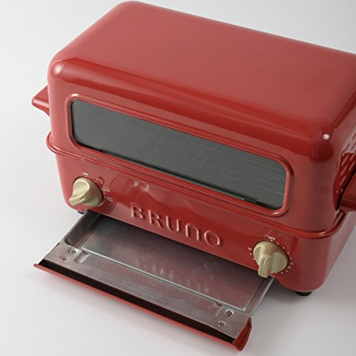 BRUNOブルーノトースターグリル2枚焼き魚焼きレッド赤redBOE033-RD