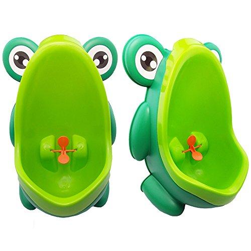 JJOnlineStore– Vasino orinatoio per bambini a forma di rana, aiuta i bambini a fare la pipì dentro al vaso grazie all'obiettivo centrale a forma di mulinello.