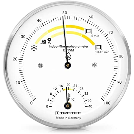 TROTEC Termohigrómetro para Interiores BZ15M | para valores climáticos óptimos | Made in Germany