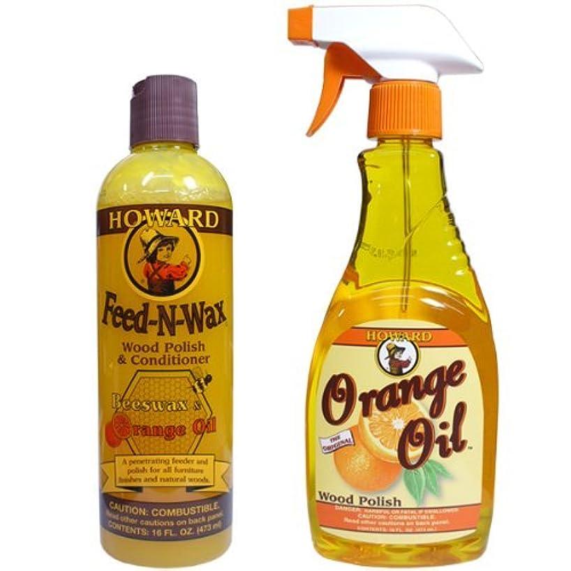 希少性思慮深い運動するHoward オレンジオイル&FEED'N WAX 2本セット (各16oz./473ml )