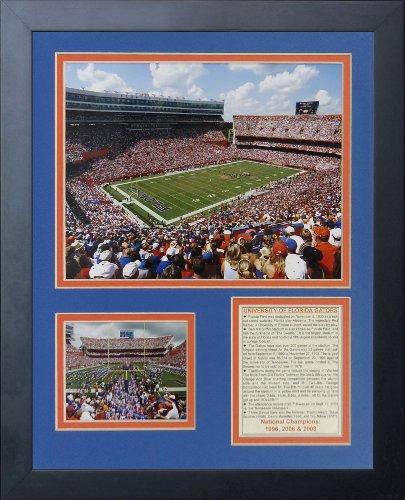 Legends Never Die Florida Gators Ben Hill Griffin Stadium Framed Photo Collage, 11 by 14-Inch