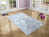 Oedim Alfombra Infantil Luna para Habitaciones PVC | 95 x 165 cm | Moqueta PVC | Suelo vinílico | Decoración del Hogar | Suelo Sintasol | Suelo de Protección |