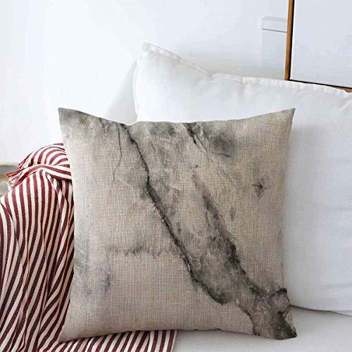 Taie d'oreiller housse de coussin Marbre à motifs bleu propre abstrait comptoir en toile boulder noir Vintage gris nature Throw Pillow Cover 45 X45CM