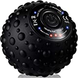 Vibrating Massage Ball - 4 Vibration Levels - Electric, Rechargeable - Muscle Roller, Trigger Point Therapy, Deep Tissue Massager - Manual Recovery Ball for Back, Foot, Legs, Arms - Black