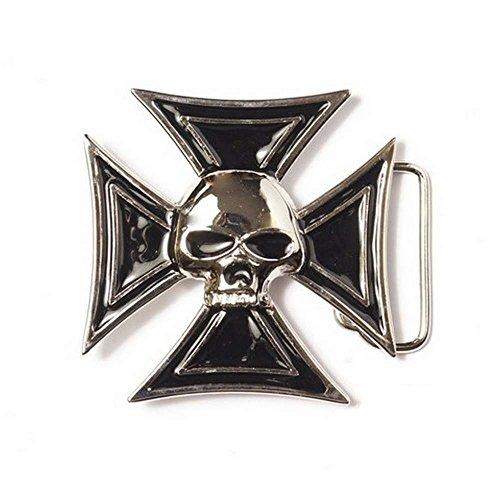 Boucle Ceinture pour lanière Universelle tête de Mort Maltese Cross