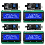 Weewooday 8 Pieces IIC/ I2C/ TWI LCD Serial Interface Adapter and LCD Module Display Backlight Compatible with Arduino R3 MEGA2560 (LCD 2004 20 x 4, Blue)