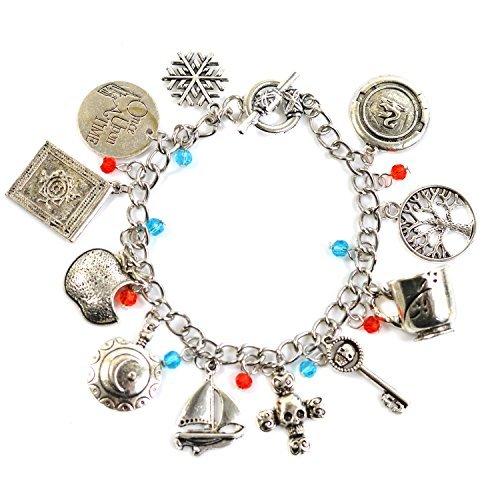 Beaux Bijoux, bracciale in argento con ciondoli talismano antichi, ispirato a Emma Swan della serie Once Upon a Time, confezione regalo inclusa