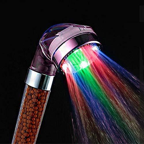 Lámpara de Cambio de Color del Cabezal de Ducha Ducha de Mano de Alta presión para SPA