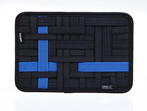 Cocoon ガジェット&デジモノアクセサリ固定ツール 「GRID-IT! 」B6 (21×16, 黒青いバー)