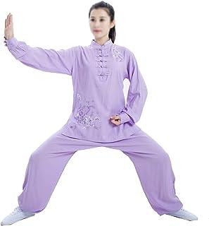 Kobieta bawełna len taichi mundurek dzieci dziewczyny kung fu garnitur długie rękawy sztuki walki mundur haftowane perform...
