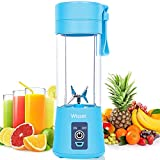 Wissec Portable Blender, Personal Mini Blender for Smoothies and Shakes, Six Blades in