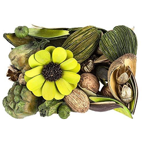 Potpourri | Glamour | Deko-Set | 350 g | Verschiedene Blumen und Deko-Elemente | In Grüntönen