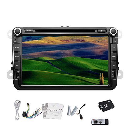 Pupug Autoradio DVD GPS Navigation Bluetooth Ipod RDS TV Radio F¨¹r Volkswagen VW 8-Zoll-