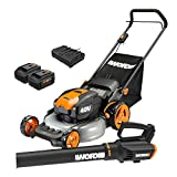 WORX WG960 20-inch 40V(5.0Ah) WG751 Cordless Lawn Mower and WG547.9 Power Share...