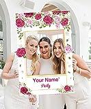 Marco de cabina de foto de ducha nupcial de flor personalizada de doble cara, decoración de fiesta de cumpleaños de BabyShower de boda para el día de San Valentín