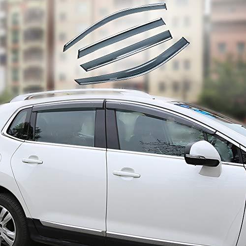 Xtrdye Deflettori per Auto Compatibili con Peugeot 2008, Vetro Acrilico per Porte E Finestre Visiera Parasole per Pioggia E Neve Protezione Solare (Set di 4)