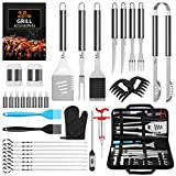 AISITIN Ustensiles Barbecue Kit Barbecue 35 Pièces Accessoire Barbecue Acier Inoxydable Set Barbecue pour Grille Barbecue