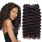 LVY pelo natural humano de onda profunda cabello brasileño virgen 100% extension pelo natural 10 12 14 pulgada
