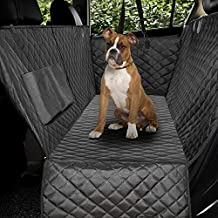 Honest Luxury Quilted Dog Car Seat Covers with Side Flap Pet Backseat Cover for Cars, Trucks, and Suv's - Waterproof & Nonslip Diamond Pattern Dog Seat Cover X-Large(61''Wx64''L)