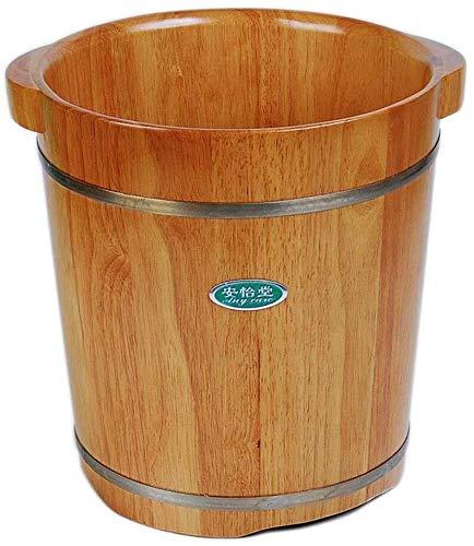 Voetbad - voetbad barile massief cederhout whirlpool massage benna voor het voetbad warmtebekken opslag goed effect (afmetingen: diameter 31 cm x hoogte)