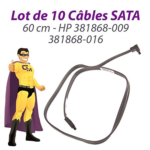 10 Stück Kabel sata HP 381868-009 381868-016 Proliant ML110 DC5800 60cm dunkelgrau