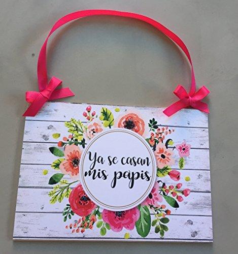 Cartel para Boda viene la novia - Ya se casan mis papis