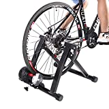 Teraysun Bike Trainer Stand, Indoor Bicycle Exercise Training Stand Folding Magnetic Bike Exercise