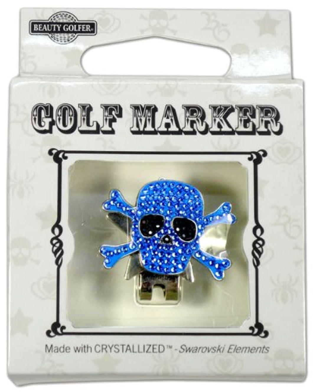 瞳八百屋さん授業料ゴルフ マーカー BG-16 ドクロ ブルー