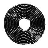 MOSOTECH 2 Pack Organizador Cables, 5.1M Espiral Cubre Cables Universal con 3.1M DIY Negro Bridas Cortable, Antienvejecimiento Recoge Cables para Escritorio, PC Escritorio, Oficina, Hogar