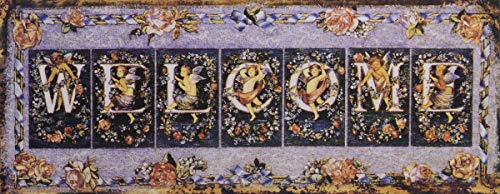 Casa Padrino Deko Zinn Schild/Blechschild Welcome Mehrfarbig 50 x H. 20 cm - Vintage Retro...