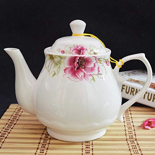 weiqiang Tetera Grande de cerámica Blanca Tetera de Filtro de Gran Capacidad...