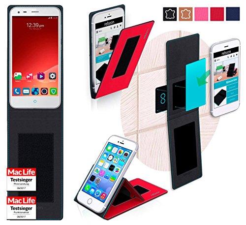 Hülle für ZTE Blade S6 Plus Tasche Cover Hülle Bumper | Rot | Testsieger