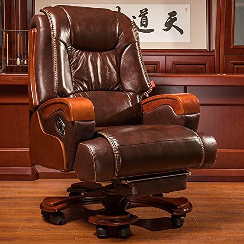 Sedie da Ufficio, poltrone Regolabili in Altezza, poltrone massaggianti, poltrone ergonomiche per dirigenti aziendali, poltrone reclinabili con Schienale Alto/Come Mostrato / 126 / 132cm