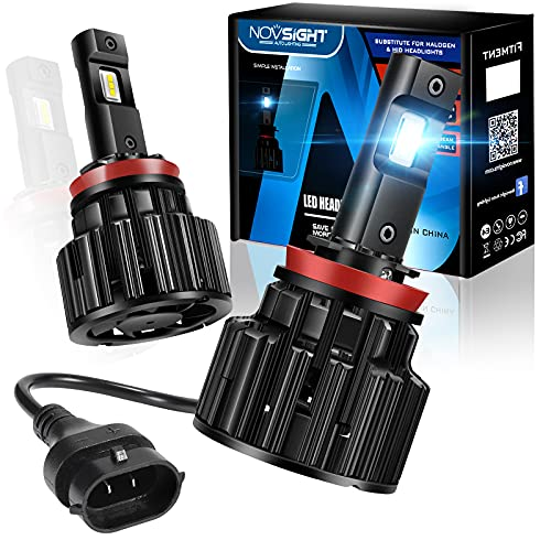 Novsight H11 LED Headlight Bulbs, 24000 Lumens 700% Brighter High Low Beam...
